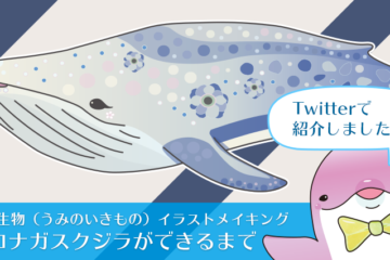 【イラストメイキング】シロナガスクジラができるまで
